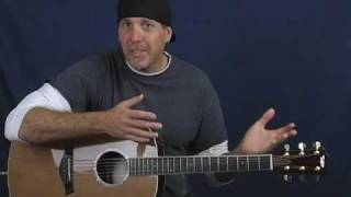 Acoustic intermediate advanced guitar lesson tap harmonics slapping strum fingerstyle