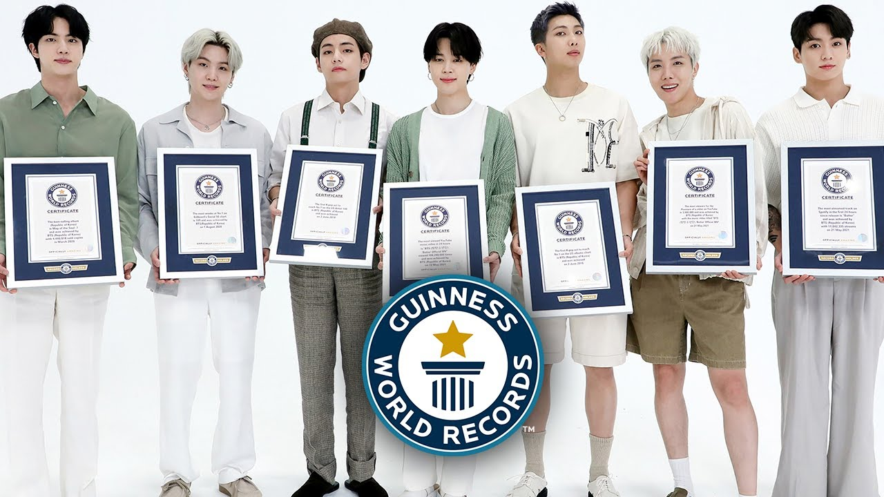 BTS Inducted Into Guinness World Records 20 Hall of Fame   HYPEBEAST