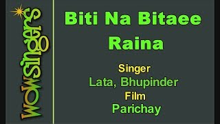 Biti Na Bitaee Raina - Hindi Karaoke - Wow Singers