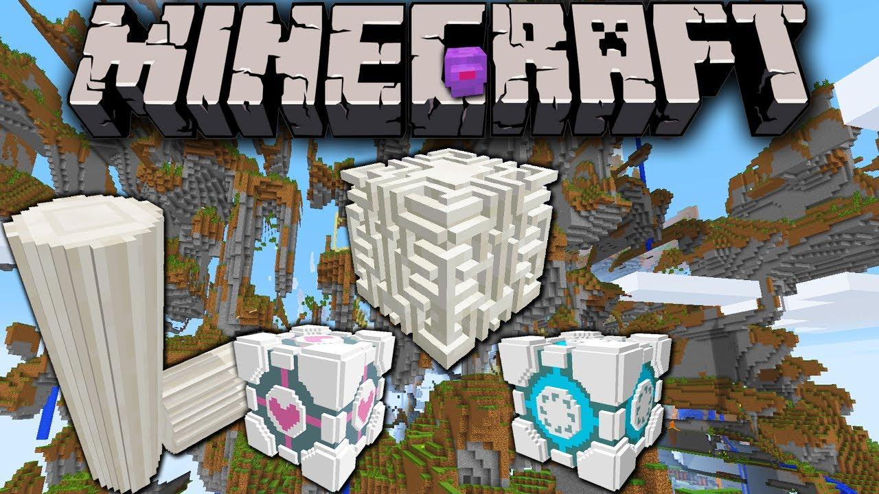 Minecraft 1 8 Snapshot: Farlands Custom Sky World Preset, 3D Block Model  Quartz & Portal Blocks