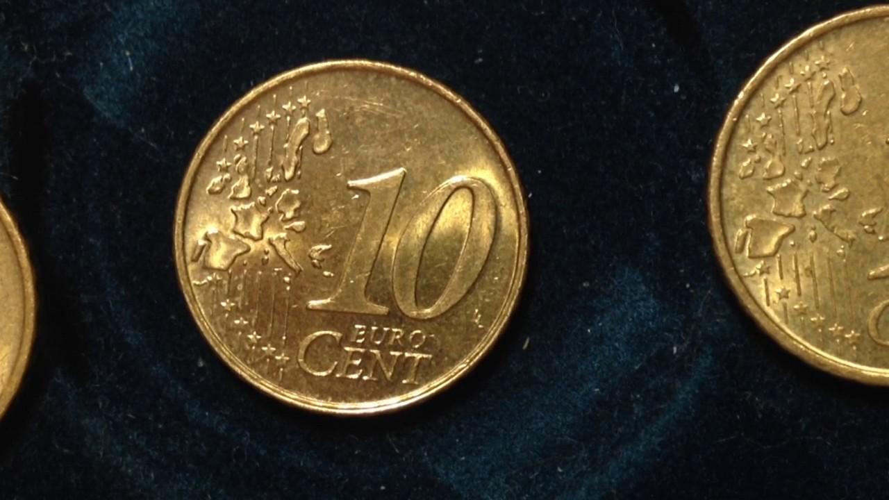 10 Euro Cent Coin Collection You