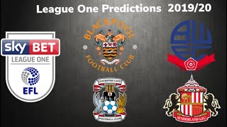 LEAGUE 1 TABLE PREDICTIONS 2019/20