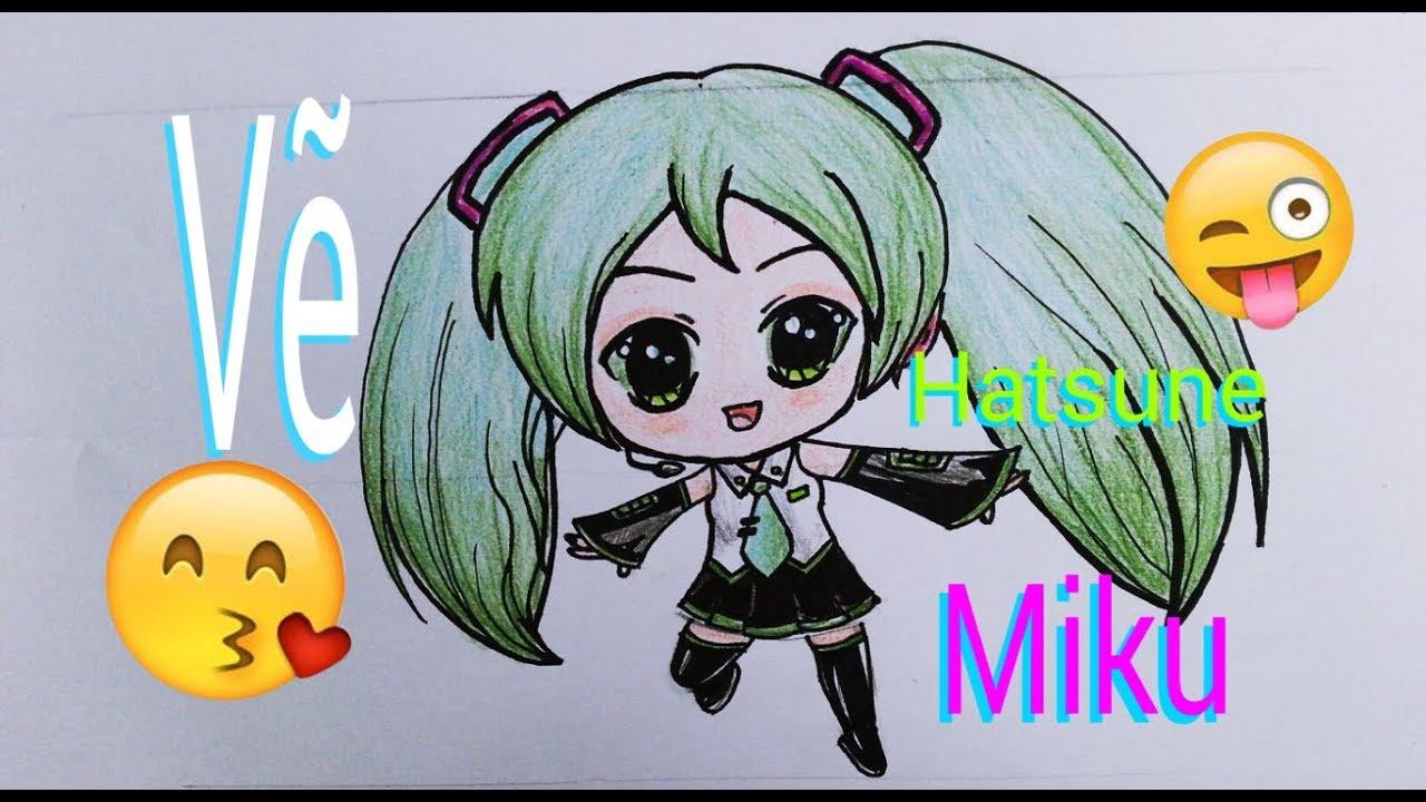 VẼ CHIBI HATSUNE MIKU/ How to Draw Hatsune Miku step by step Chibi