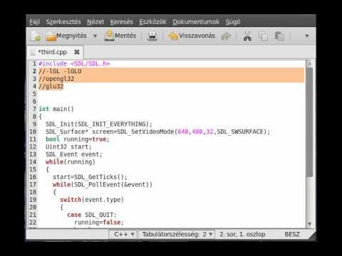 openGL (SDL,c++) thecplusplusguy tutorials