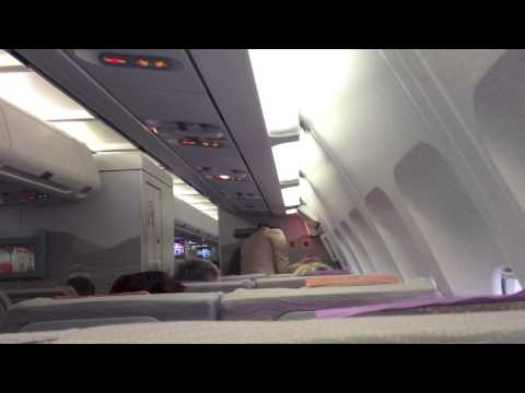 Emirates flight from Warsaw to Dubai (WAW-DXB) boarding and take off