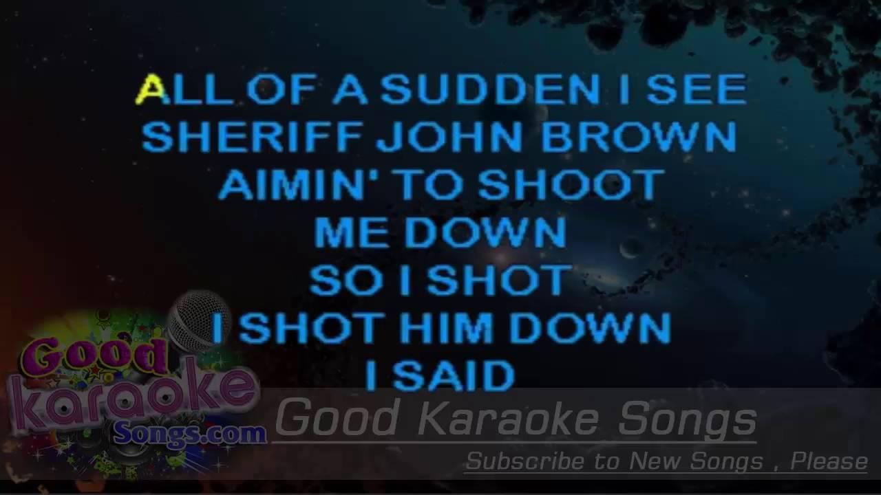 i shot the sheriff lyrics pdf