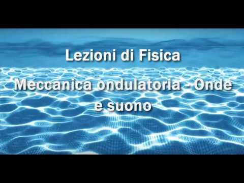 Lezioni di Fisica: Meccanica ondulatoria - Onde e suono
