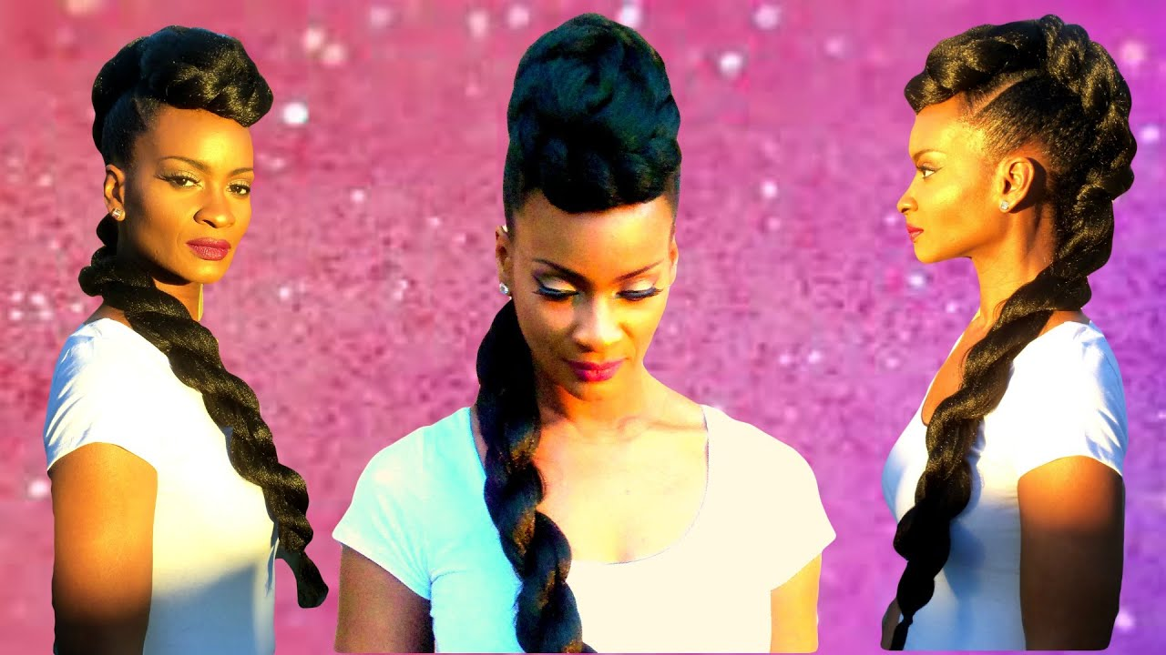 runway hair twisted mohawk faux
