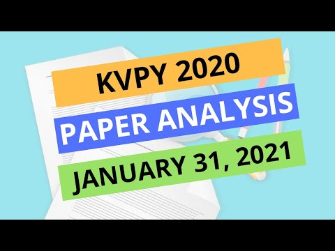 Download KVPY paper analysis 2021    KVPY answer key, result date and cutoff    The Sarathi