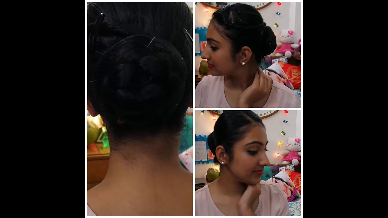 howto - cabin crew braided bun - youtube