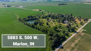 Video Tour - 5883 S. 500 W.  Marion, IN