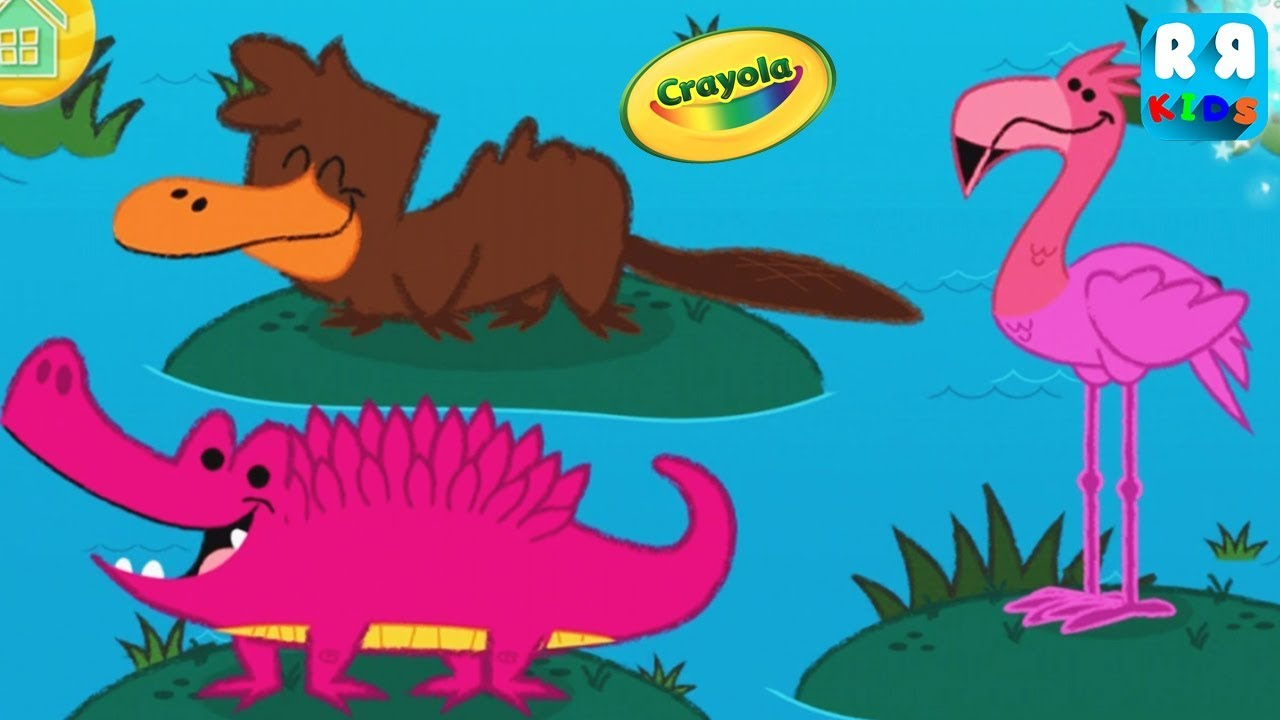 Crayola The Games - Budge World - Best Coloring App for Kids - YouTube