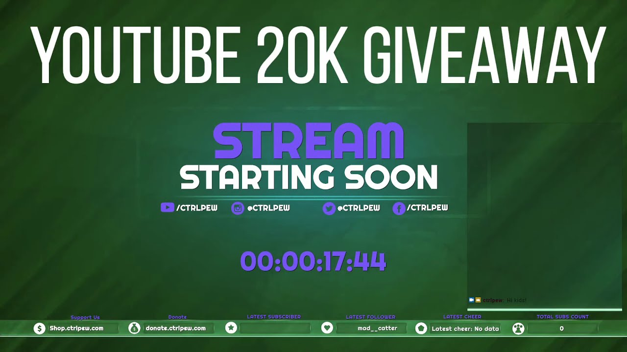 20K giveaway drawing