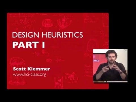 Design Heuristics - (Part 1) | HCI Course | Stanford University