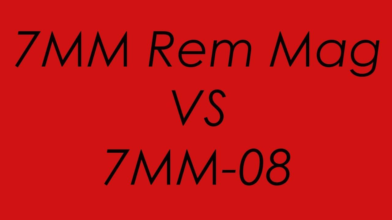 7MM Rem Mag VS 7MM-08: Ballistics Compared