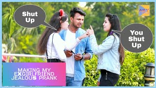 Making My ExGirlfriend Jealous Prank On Cute Girls Ft-P4 Prank | AKY FILMS |