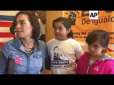 Muslims, Latinos rally against Trump's orders