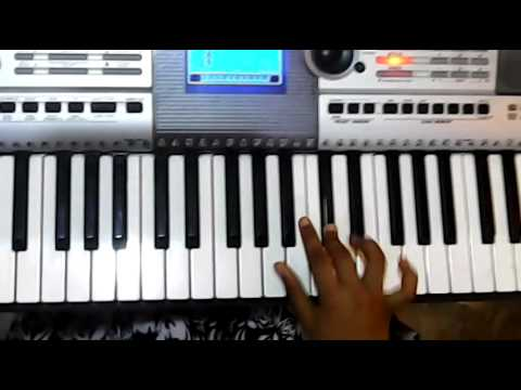 Neeli Rangu Cheeralona From Govindudu Andari Vaadele] Keyboard Tutorial By T.sahithi