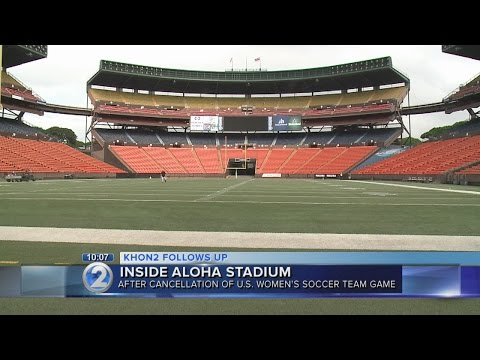 A look at Aloha Stadium's field conditions after canceled soccer match