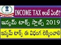 WHAT IS INCOME TAX - INCOME TAX SLABS 2019 - INCOME TAX CALCULATION IN TELUGU