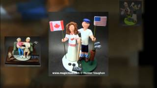 Golfer's Wedding Cake Toppers | wedding cake toppers