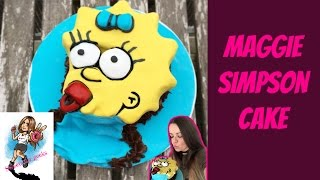 THE SIMPSONS CHOCOLATE CAKE / MAGGIE SIMPSON SCHOKOLADENKUCHEN / ENGLISH WITH GERMAN SUBS
