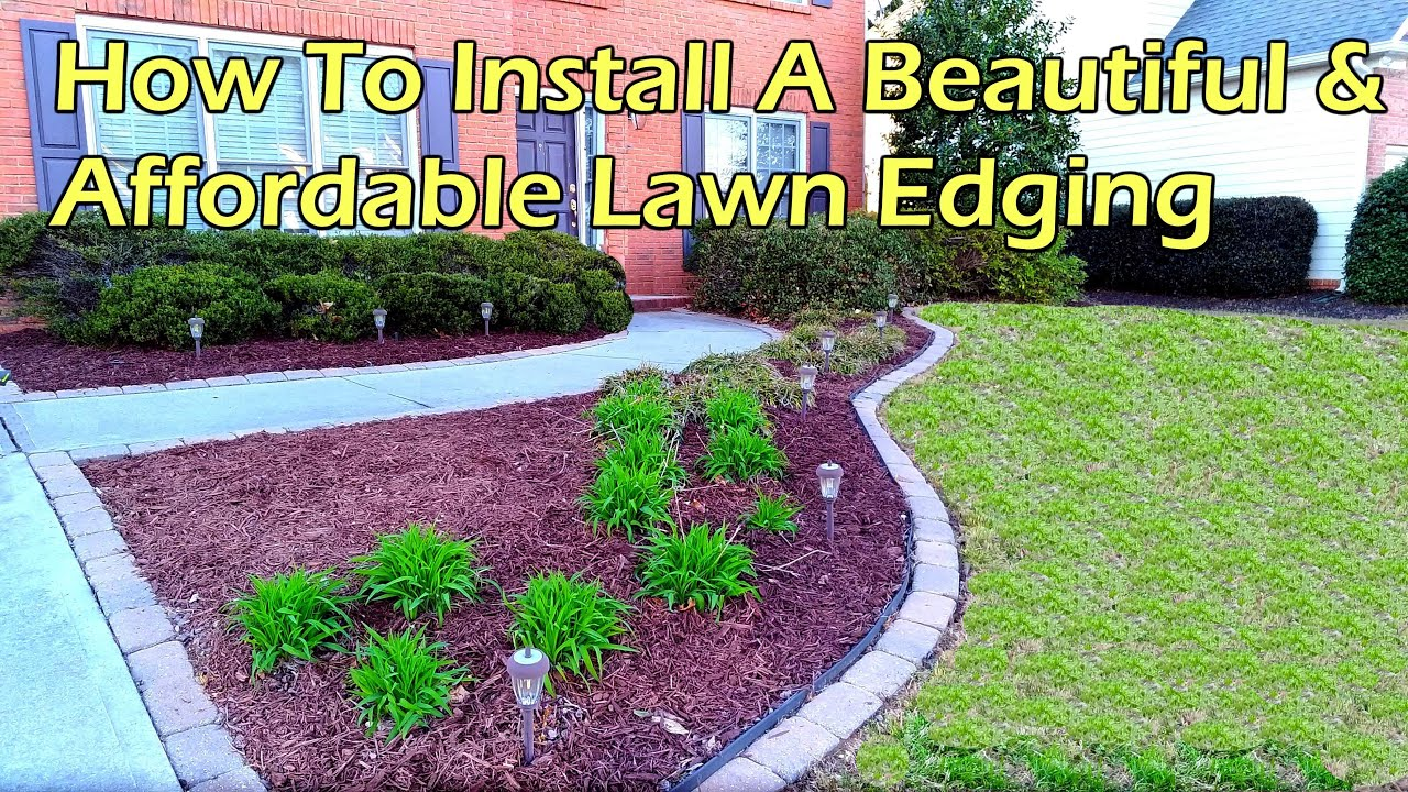 How To Install A Beautiful Affordable Paving Stone Edging Youtube