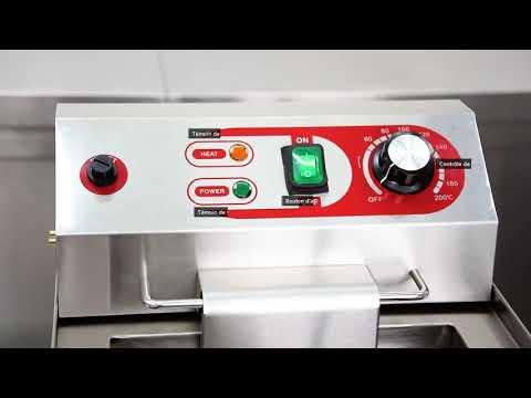 Friteuse électrique Professionnelle En Acier Inoxydable - [EF-131V] - Equipementpro