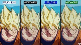 COMPARATIVA Dragon Ball FighterZ PS4 vs Xbox One vs PS4 Pro vs Xbox One X - GAMEPLAY