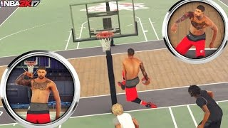 NBA 2K17 MyPark: Center Killing My Teammate Grade! Trampoline In The Paint!