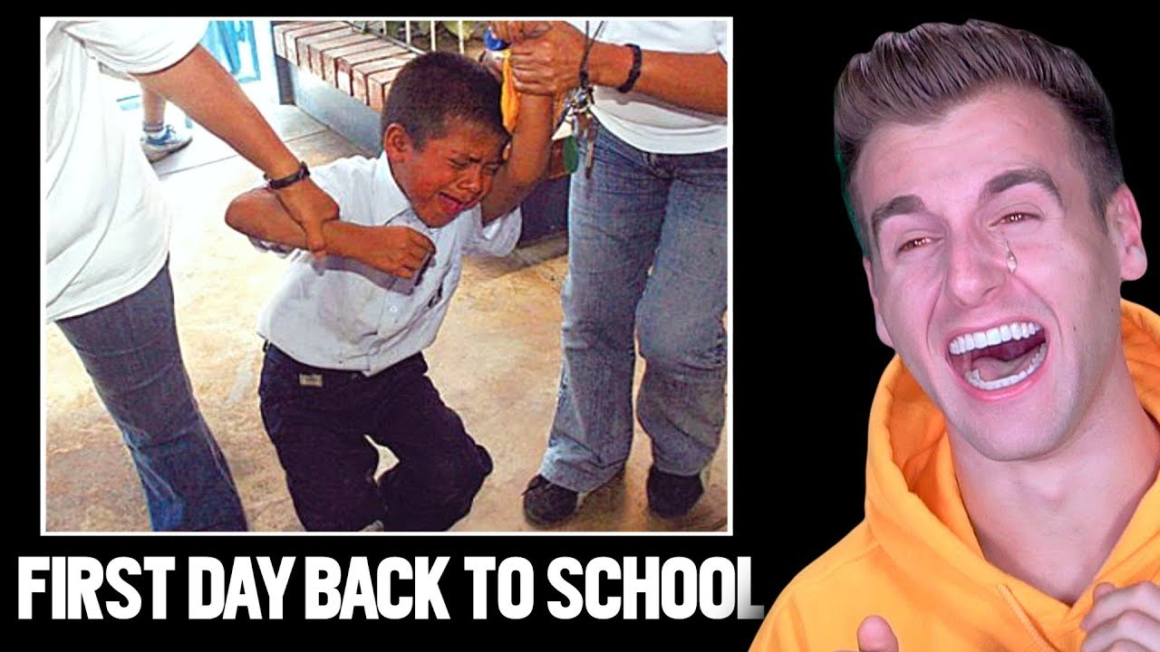 Hilarious First Day Back To School Funny Reactions Youtube
