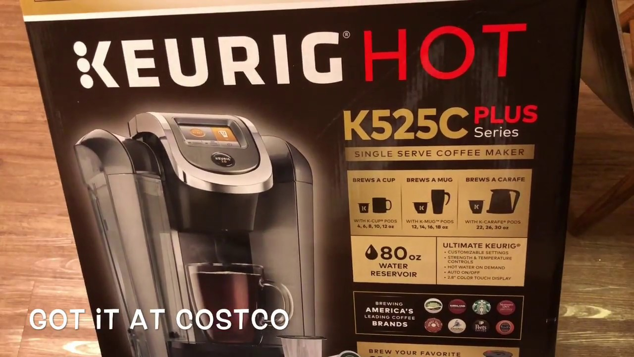2017 Keurig 525C Plus Unboxing (Costco Edition)