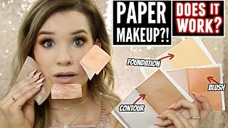 TESTING Viral PAPER MAKEUP! (Does it Work?!)