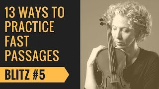 Violin Fast passages Tutorial  #5 Patterns