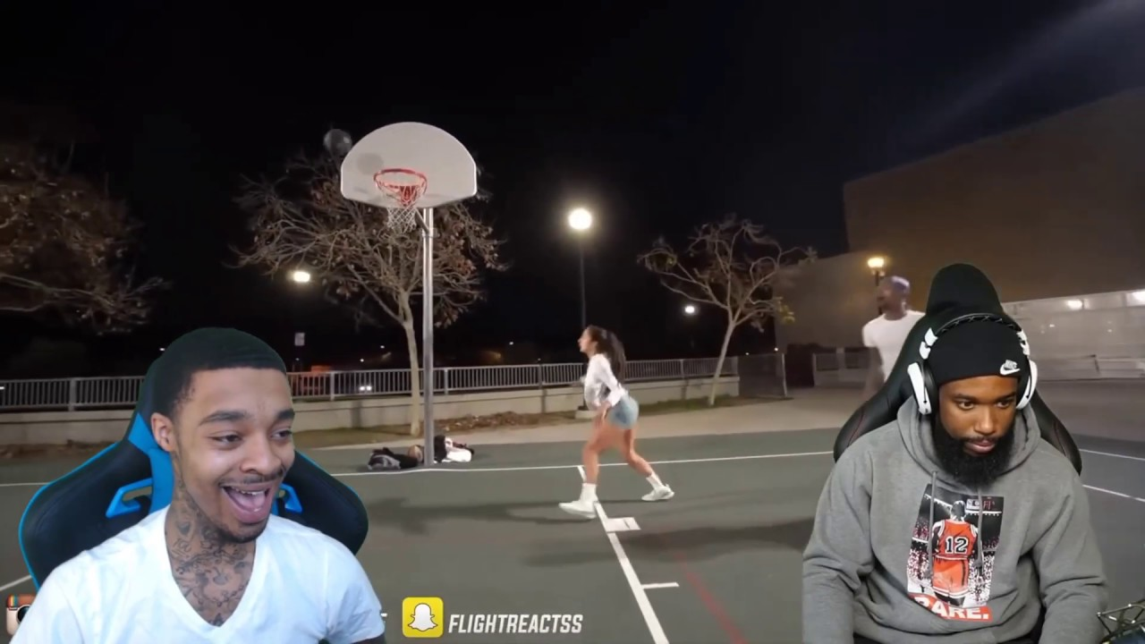 Download Reacting To FLIGHT ALMOST GOT HIS ANKLES TOOK FROM FEMALE TRASH TALKER BASKETBALL PLAYER LOL!