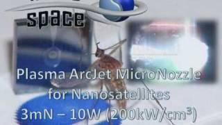microspace plasma arcjet micronozzle 2010 wmv
