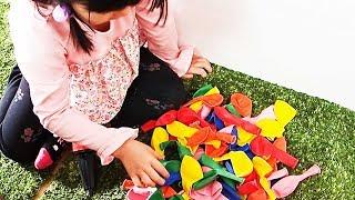 風船で空を飛ぶ!?ごっこ遊び Learn Colors with Balloons for Children