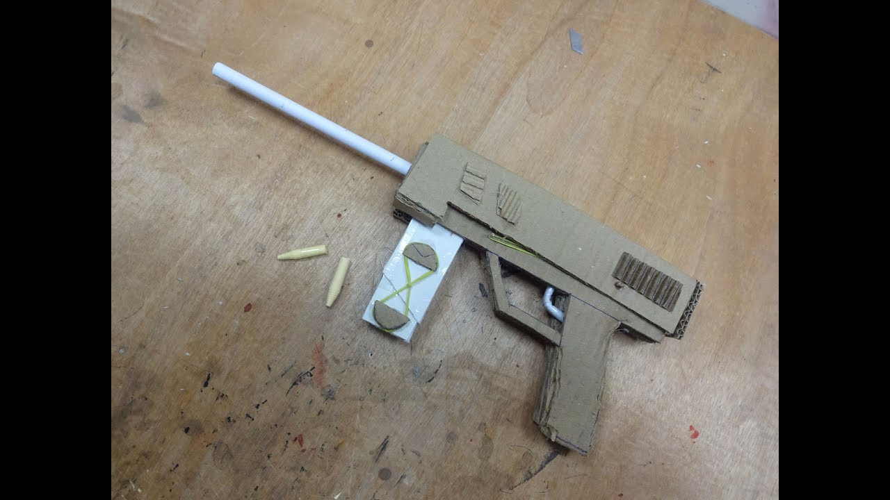 Cardboard Hydraulic Ar : How to make gun that shoots bullets cardboard