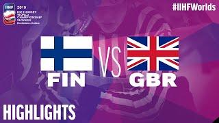 Finland vs. Great Britain - Game Highlights - #IIHFWorlds 2019