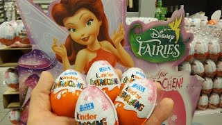 5 New Disney Fairies Kinder Surprise Eggs