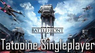 "Star Wars Battlefront - ""Tatooine Survival"" Singleplayer Gameplay"