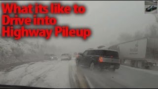 Deadly Highway Black Ice Pile Up - When ABS Becomes Useless thumbnail