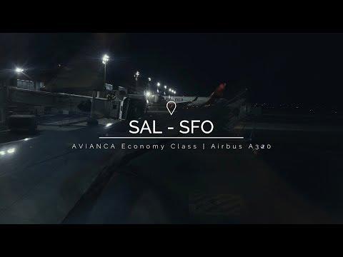 AVIANCA | Economy Class | Airbus A320 | SAL To SFO