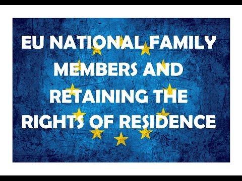 Retaining the rights of residence, EEA national family members