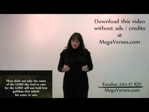 Exodus 20 Hand Motion Video by Mega Verses