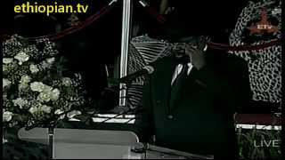 South Sudanese President  Salva Kiir-Mayardit Speaks at Funeral Service for PM Meles Zenawi