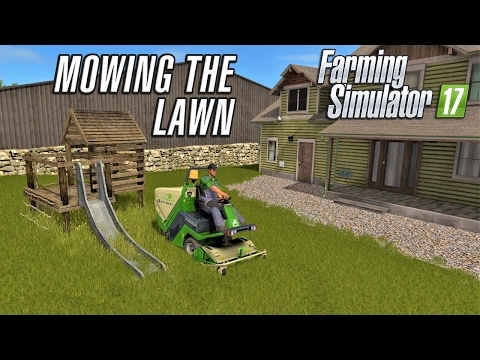 Farming Simulator 2017 | MOWING THE LAWN | Wexcombe Manor Farm | Episode 16