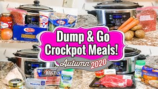 5 DUMP & GO CROCKPOT DINNERS | SLOW COOKER RECIPES | JULIA PACHECO