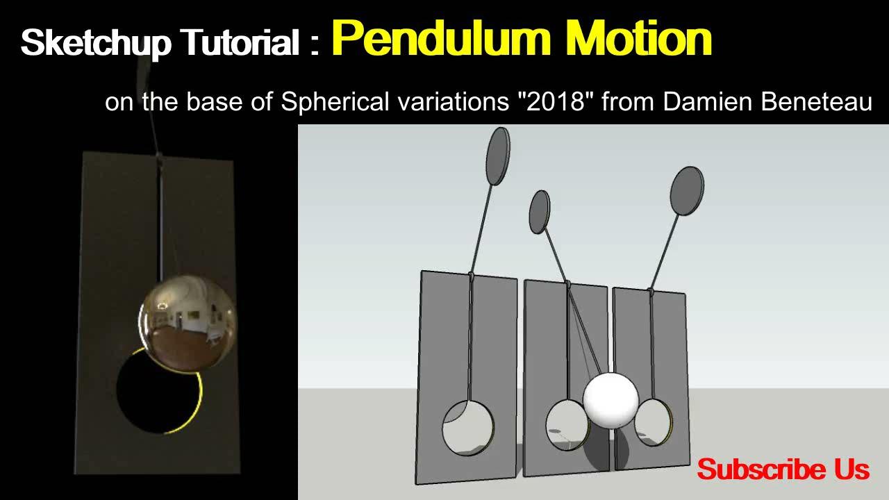 SketchUp Animation Tutorial: Pendulum Motion