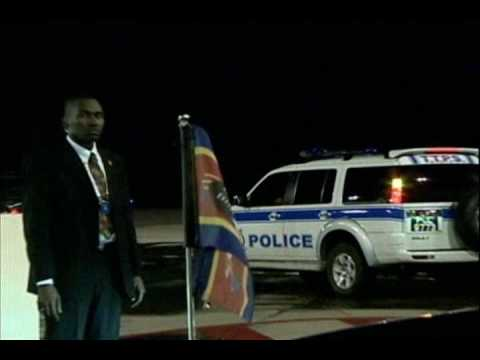 Arrival of the Prime Minister of Swaziland.wmv